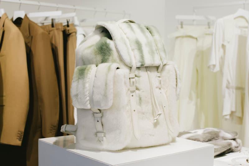 Virgil Abloh Louis Vuitton Spring/Summer 2019 Fur Backpack White