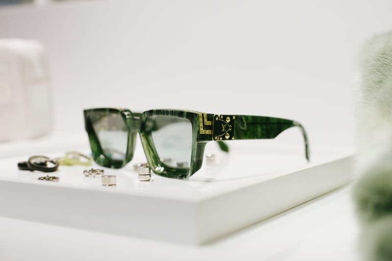 Virgil Abloh Louis Vuitton Spring/Summer 2019 Glasses Green