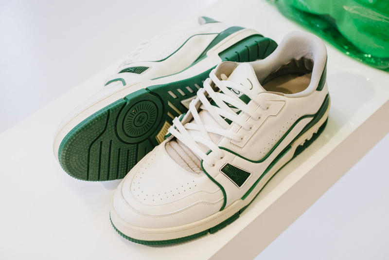 5b545ef7a2f7 Virgil Abloh Louis Vuitton Spring Summer 2019 Sneaker Green White