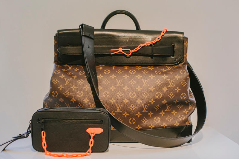 Virgil Abloh Louis Vuitton Spring/Summer 2019 Top Handle Bag Monogram Orange