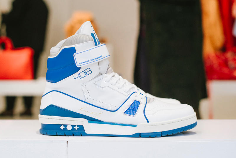 Virgil Abloh Louis Vuitton Spring/Summer 2019 High-Top Sneaker Blue White