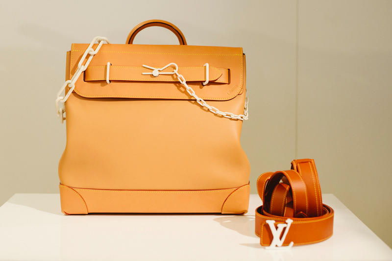 Virgil Abloh Louis Vuitton Spring/Summer 2019 Top Handle Bag Belt Orange