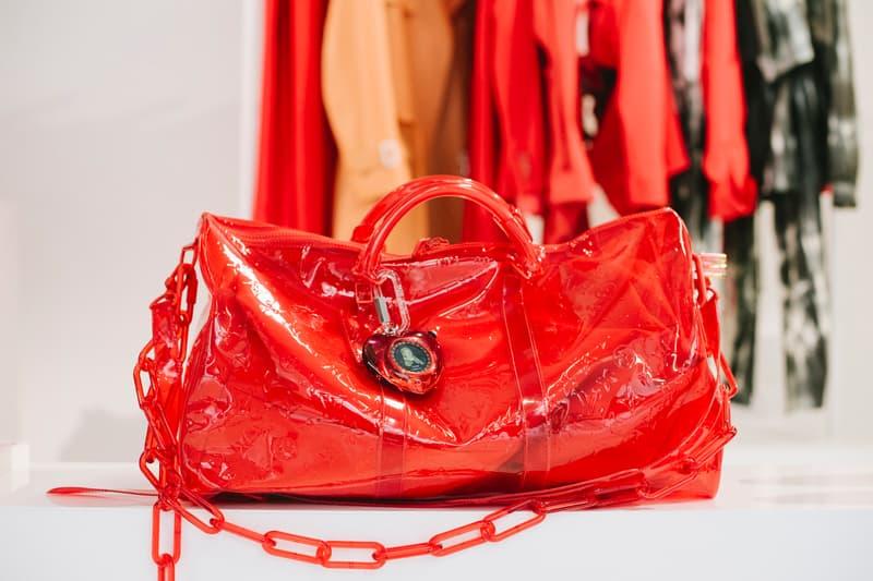 Virgil Abloh Louis Vuitton Spring/Summer 2019 Transparent Bag Red