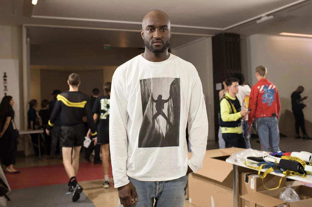 Virgil Abloh Backstage Spring/Summer 2019 Off-White Show T-shirt White