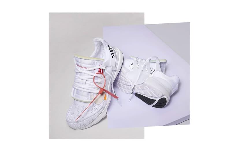 Virgil Abloh Nike Air Presto Release Date White Black The Ten Sneaker Footwear Streetwear Off-White Drop