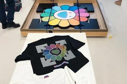 77d07f92256 Virgil Abloh & Takashi Murakami Exhibition Tees | HYPEBAE