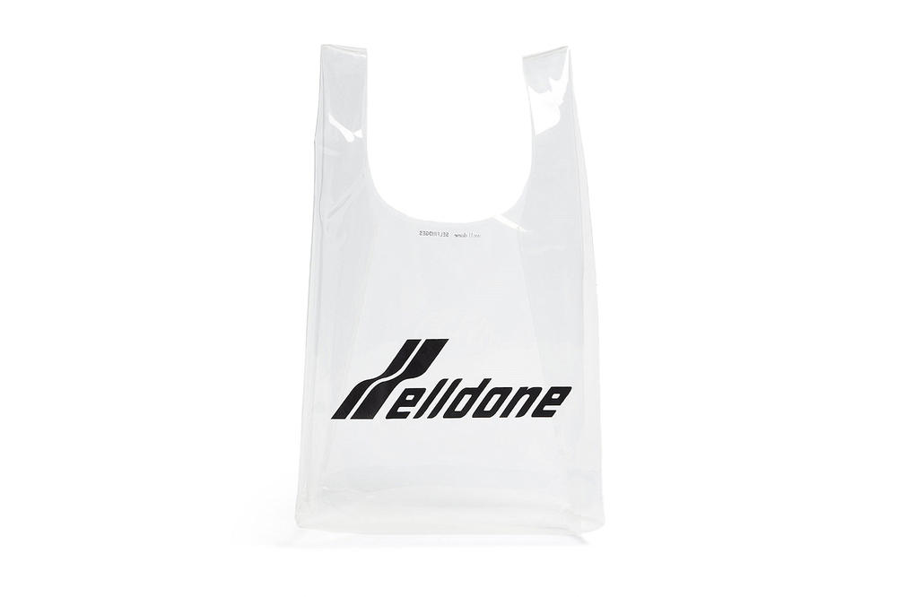 We11done Rare Market Korean Fashion Brand Designer Plastic Tote Bag
