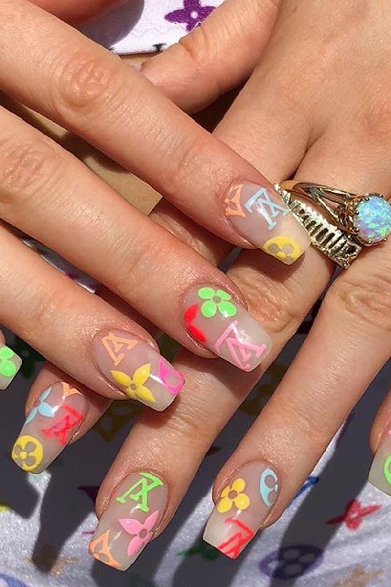 Louis Vuitton Rainbow Nails Manicure