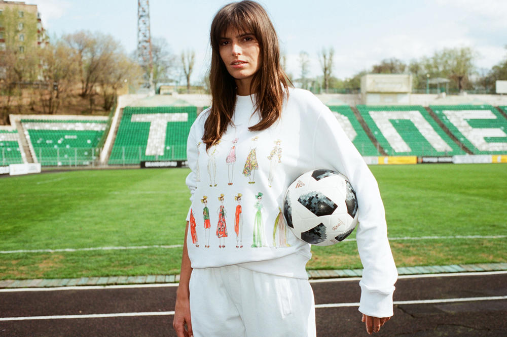 YOOX Soccer Couture Collection Delpozo Sweatshirt White