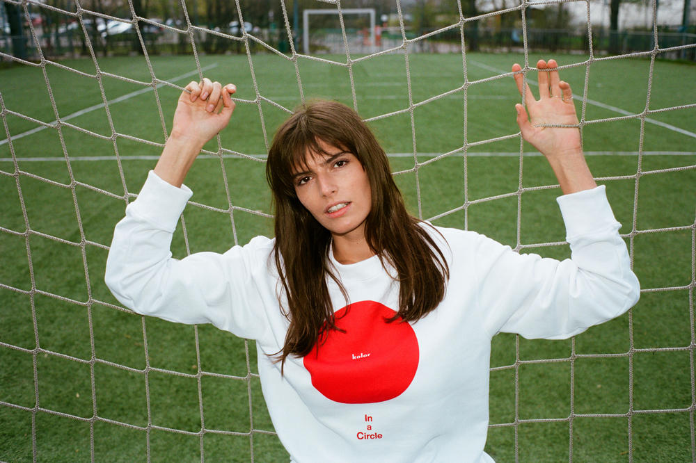 YOOX Soccer Couture Collection Kolor Sweatshirt White