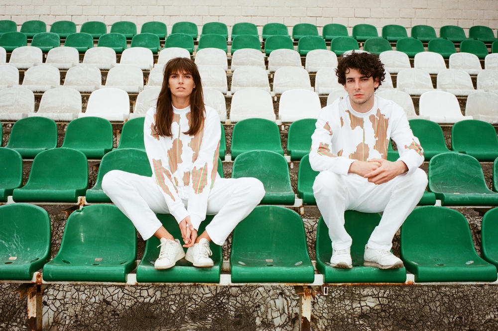 YOOX Soccer Couture Collection Marques'Almeida Sweatshirts Grey