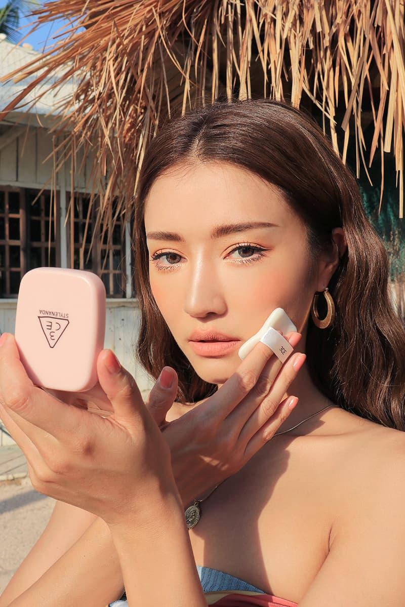 3CE Blur Serum Powder Compact Pink Model STYLENANDA Summer 2018 Online Sale