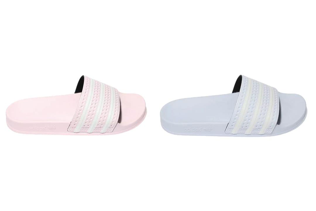 adidas Adilette Slides in Pastel Pink