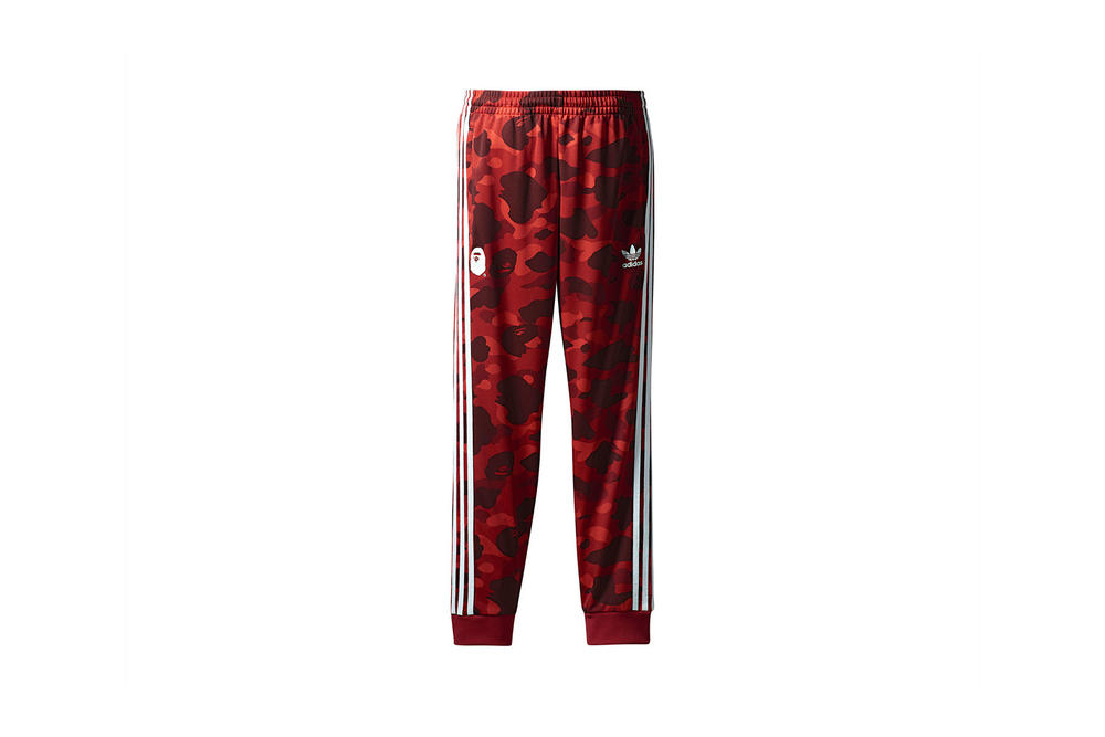 BAPE x adidas Originals Collection Track Pants Red