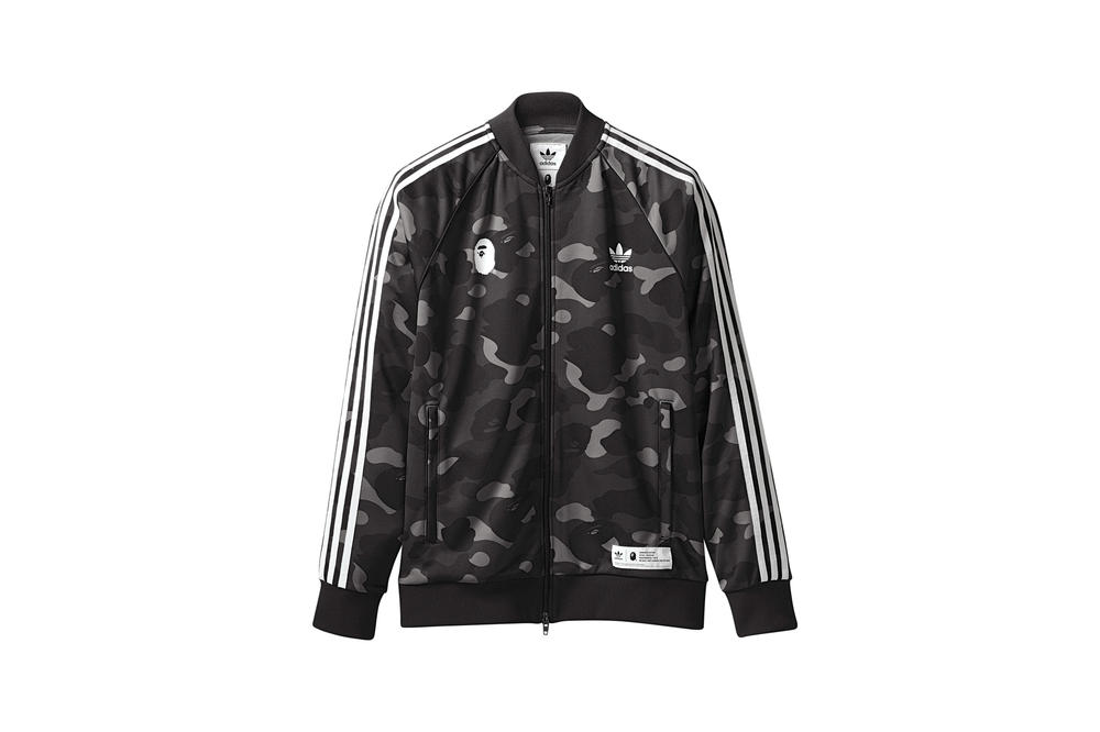 BAPE x adidas Originals Collection Track Jacket Black
