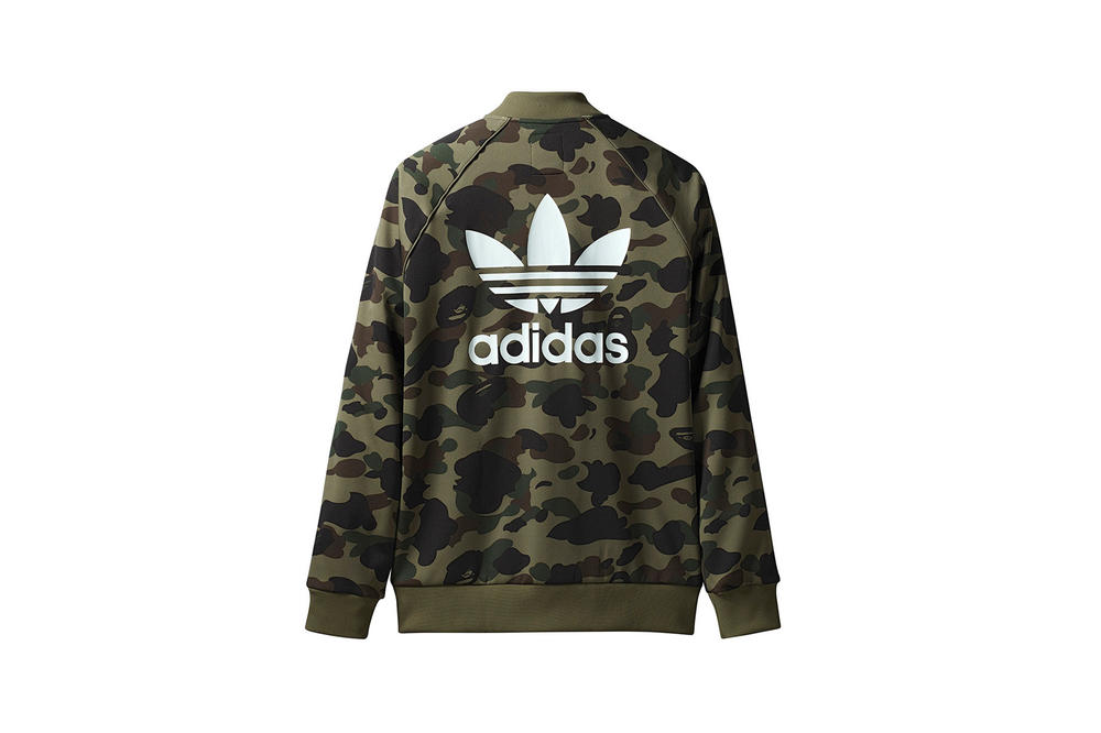 BAPE x adidas Originals Collection Track Jacket Green