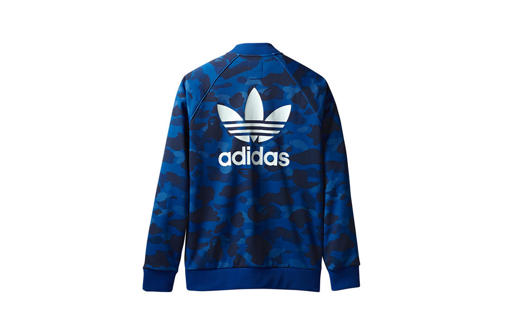 BAPE x adidas Originals Collection Track Jacket Blue
