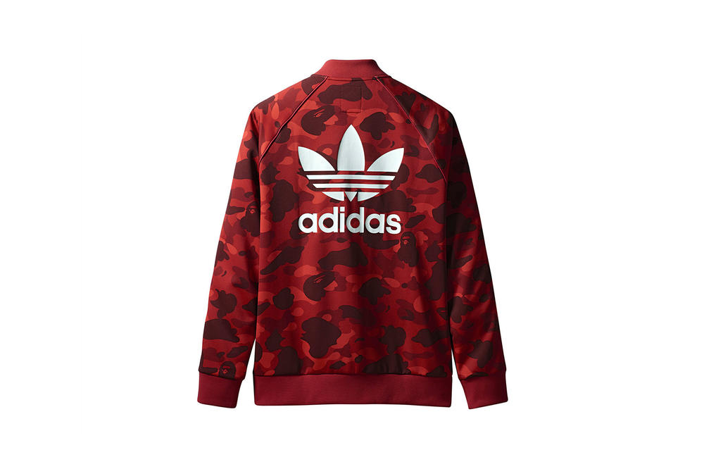 BAPE x adidas Originals Collection Track Jacket Red