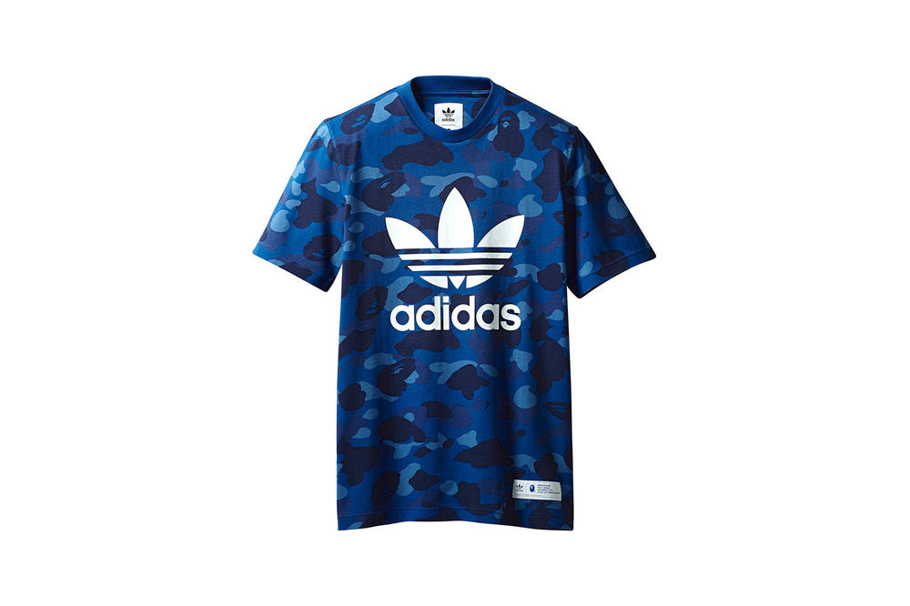 BAPE x adidas Originals Collection T-shirt Blue