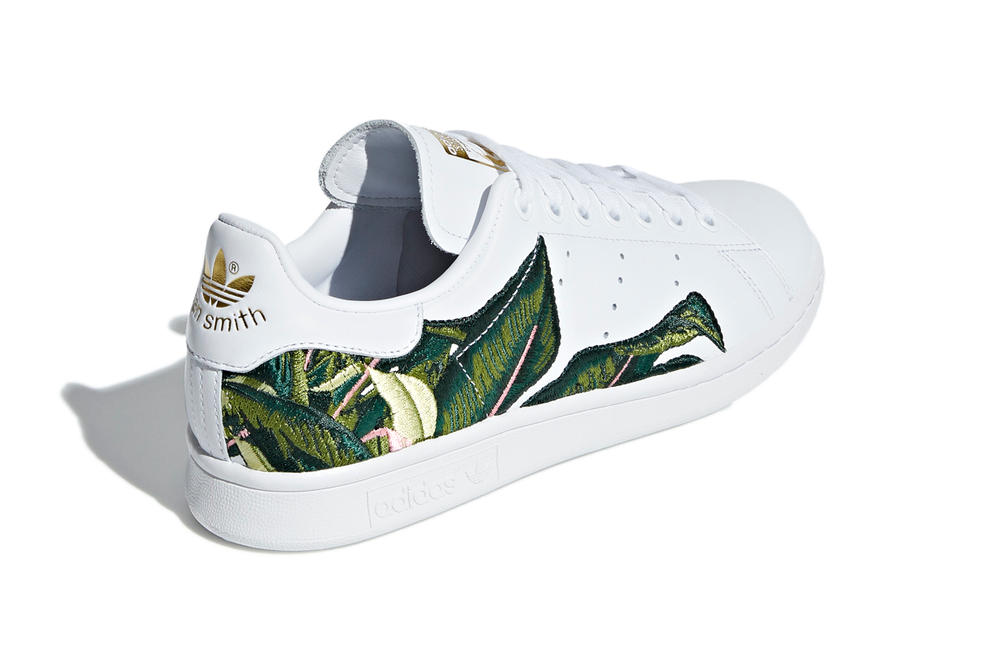 9c301b92ab653 adidas Originals Tropical Banana Palm Leaf Embroidered Stan Smith