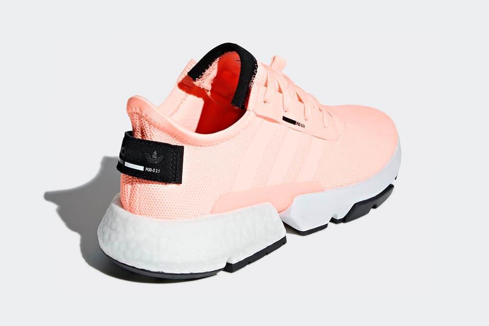 adidas pod s31 clear orange boost eva midsole mesh lifestyle sneaker