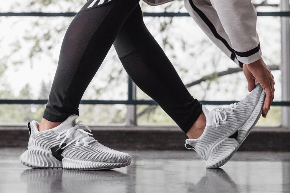 6ca5d365c9a adidas  AlphaBOUNCE Instinct in White and Pink