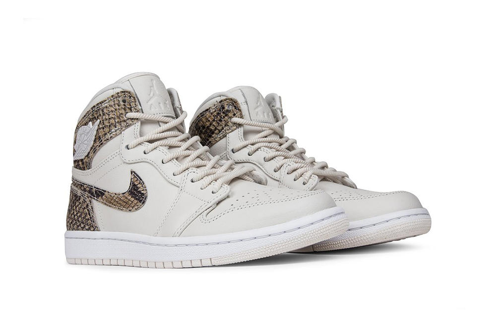 Air Jordan 1 High Phantom White Snakeskin
