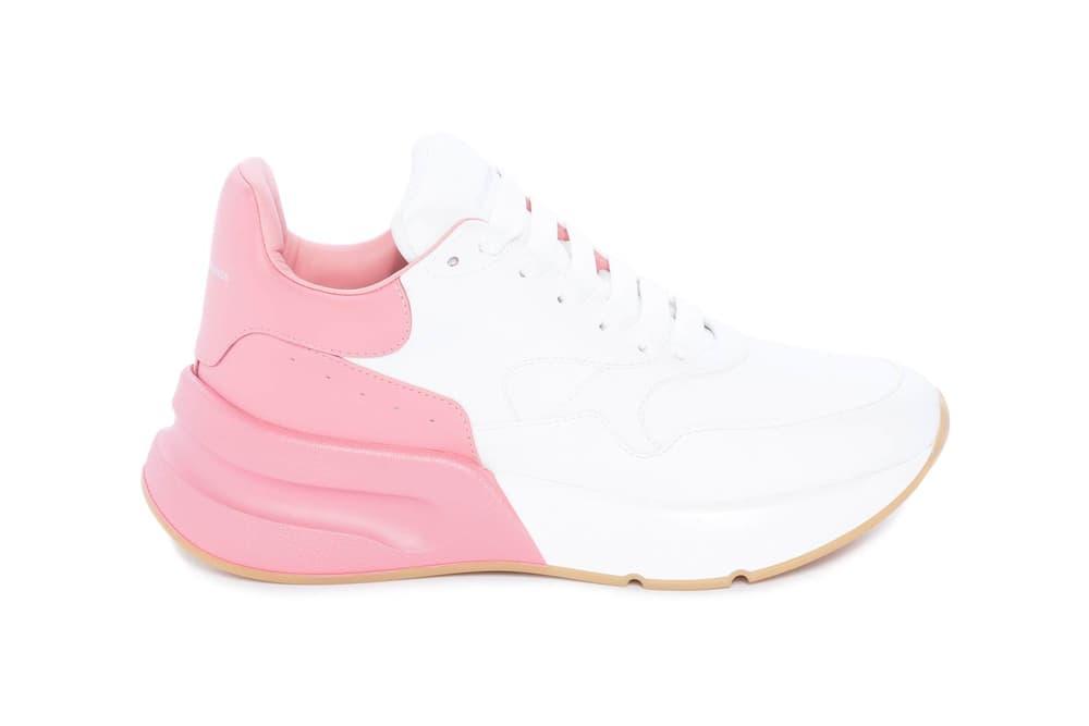 Alexander McQueen Oversized Runner Pink White