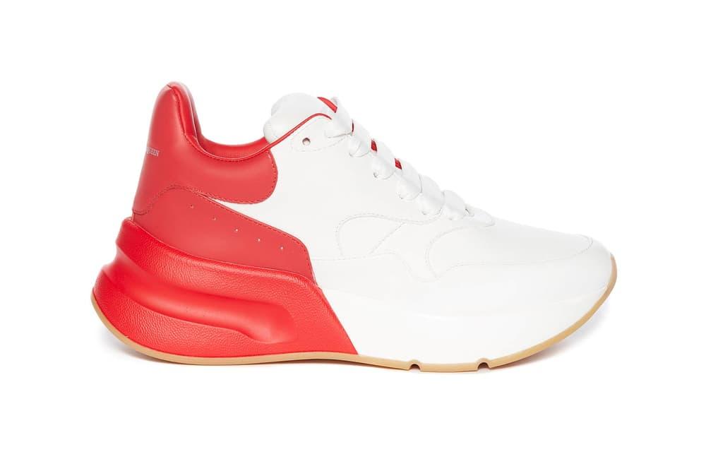 Alexander McQueen Oversized Runner White Red