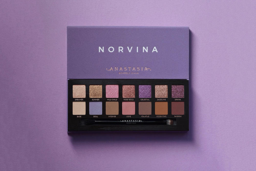 Anastasia Beverly Hills Norvina Eyeshadow Palette Swatches