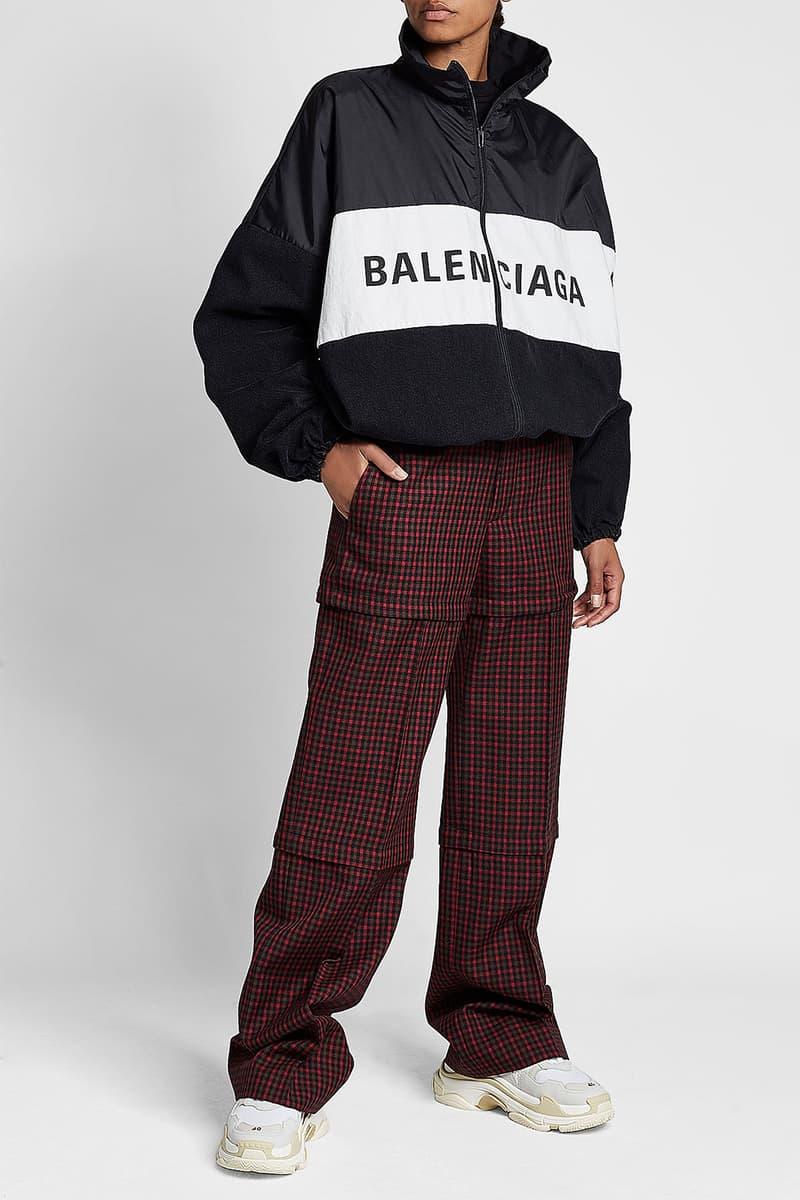 Balenciaga Demna Gvasalia Sporty Logo Windbreaker Jacket