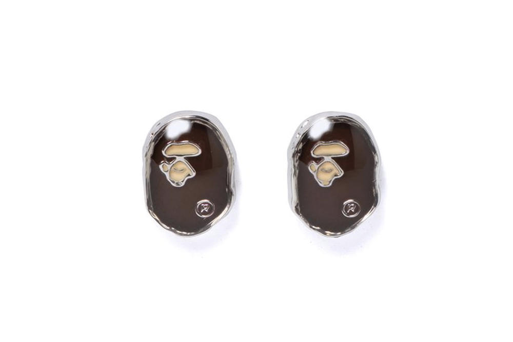 BAPE New APE Logo Rings and Earrings Jewelry