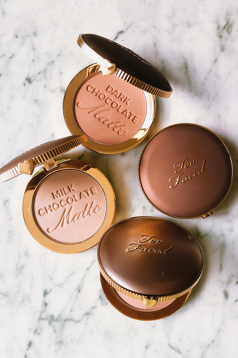 Too Faced Chocolate Soleil Matte Bronzers Milk Dark Marble Table Makeup Beauty Cosmetics
