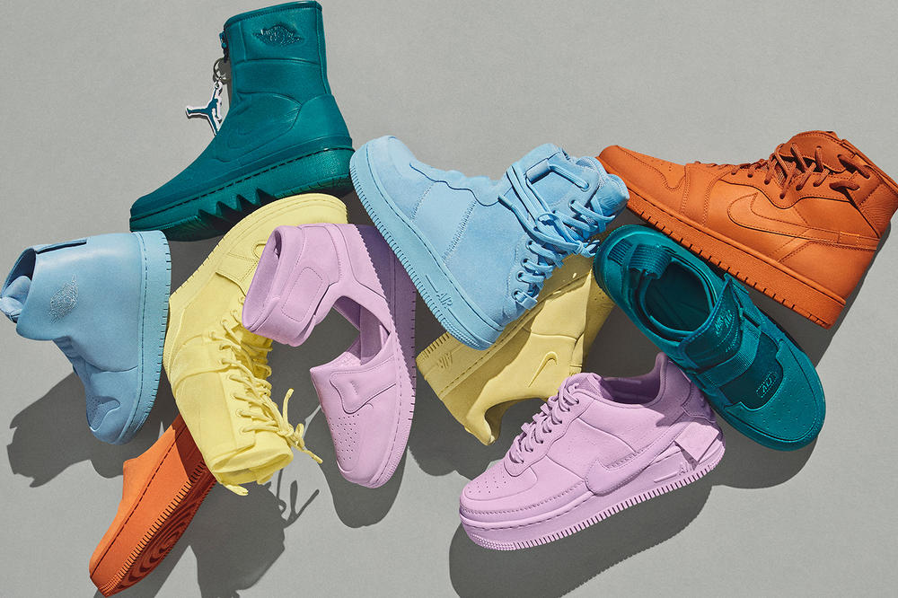2e064014c3 Nike 1 Reimagined Color Air Force 1 Air Jordan Orange Yellow Purple Green  Blue