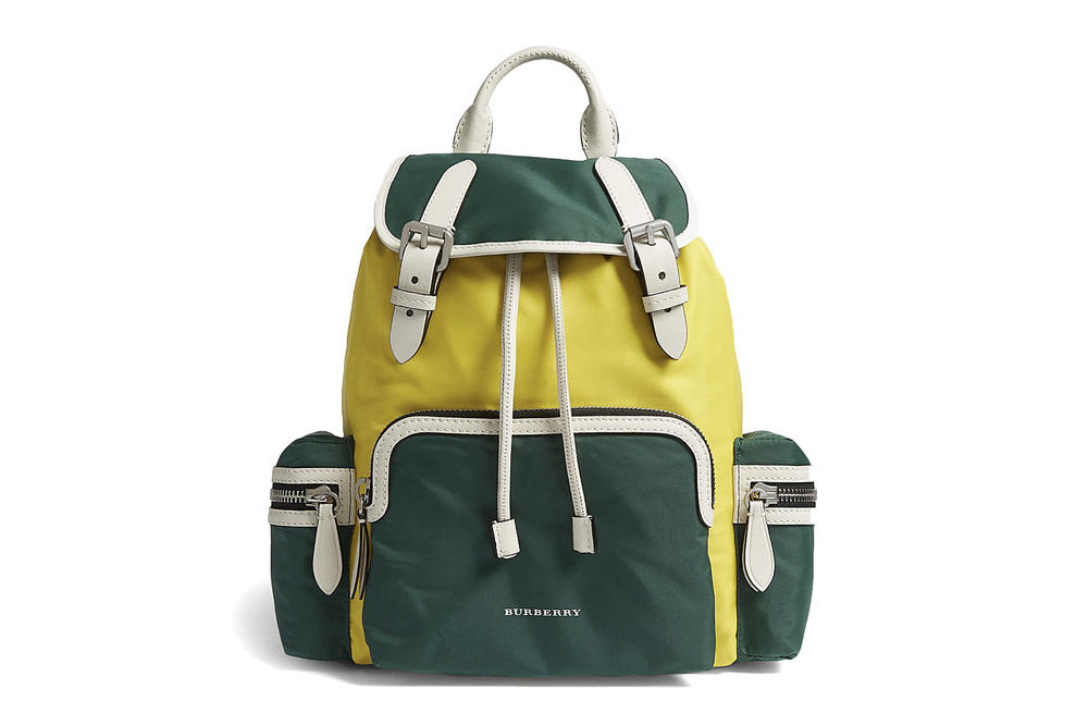 Burberry Color-Blocked Green Yellow Backpack