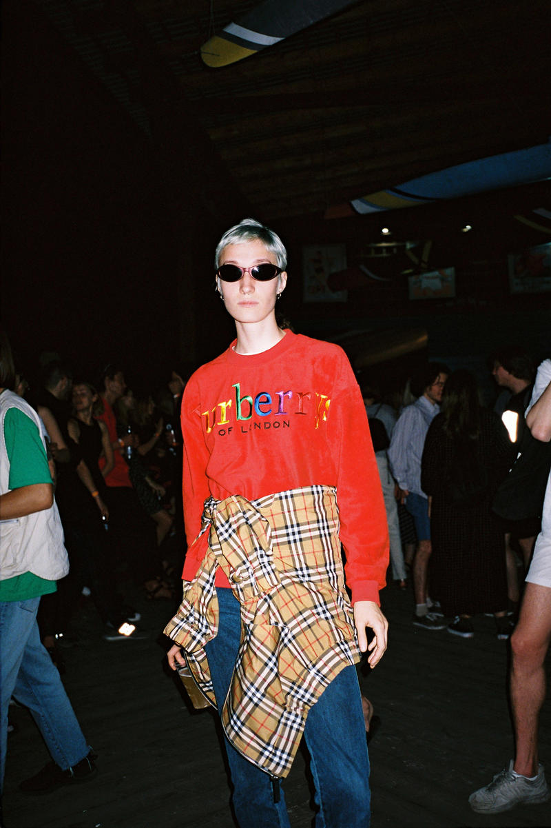 Burberry x Opening Ceremony Archive Logo Terry Sweatshirt Red