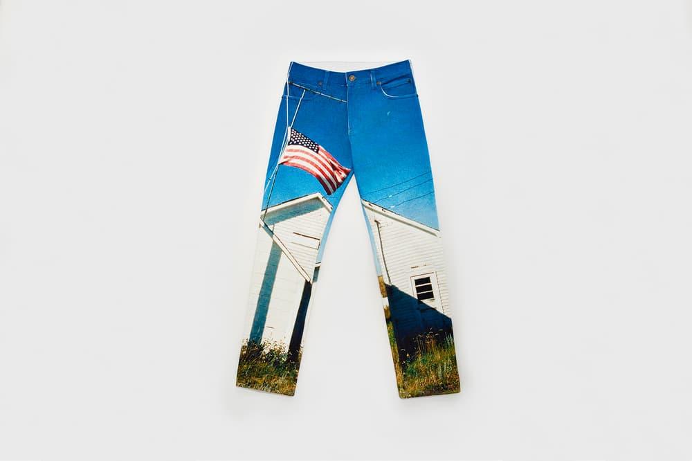 CALVIN KLEIN EST. 1978 Collection Motif Jeans Blue Brown