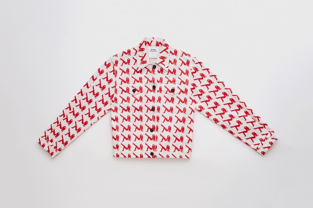CALVIN KLEIN EST. 1978 Collection Logo Trucker Jacket White Red
