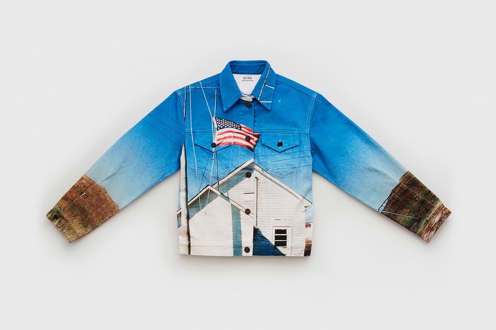 CALVIN KLEIN EST. 1978 Collection Trucker Jacket Blue Brown