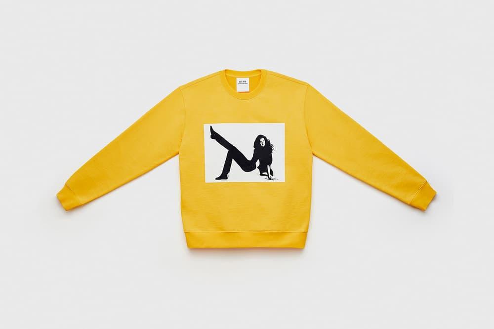 CALVIN KLEIN EST. 1978 Collection Icon Printed Crewneck Sweatshirt Yellow
