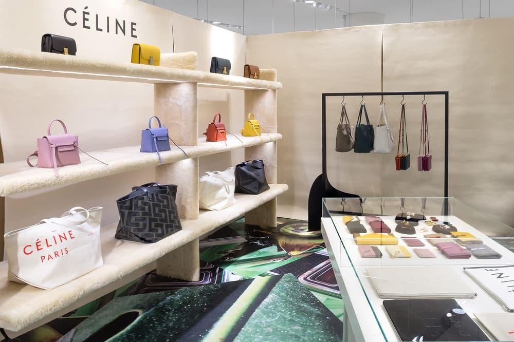 Celine Bags Tote Handbags Trio Wallets Pop-Up Nordstrom Vancouver Pacific Centre