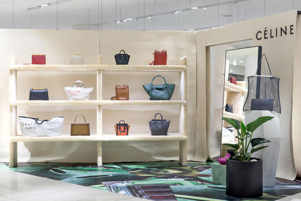 Celine Bags Tote Pop-Up Nordstrom Vancouver Pacific Centre Boots