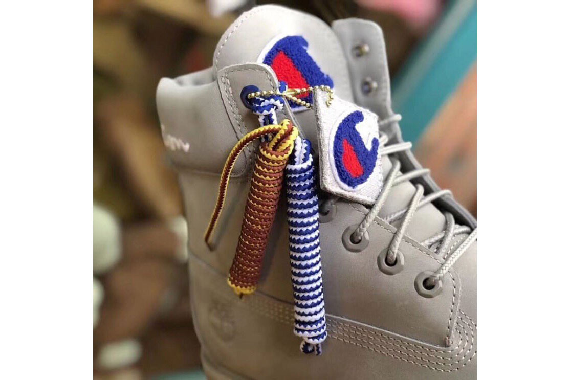 Champion x Timberland Boots in Gray and