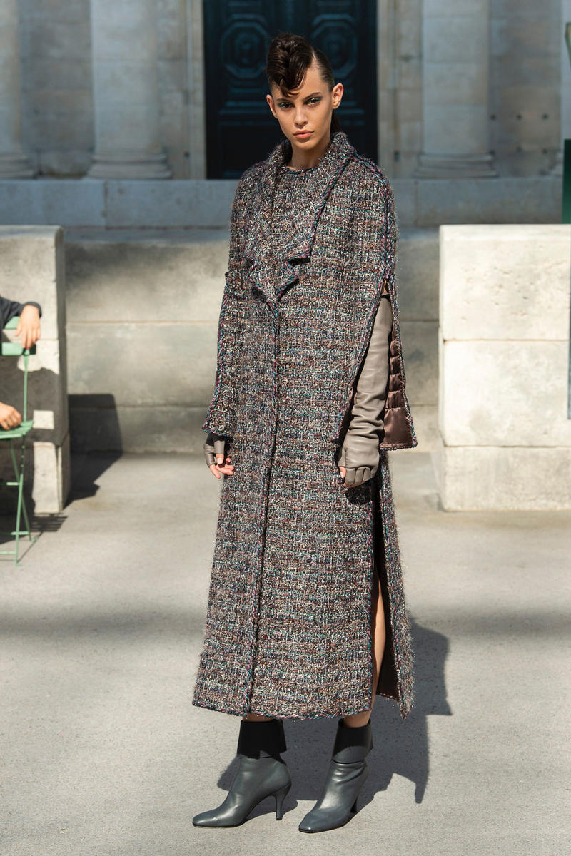 Chanel Fall 2018 Couture Show Collection Long Coat Brown
