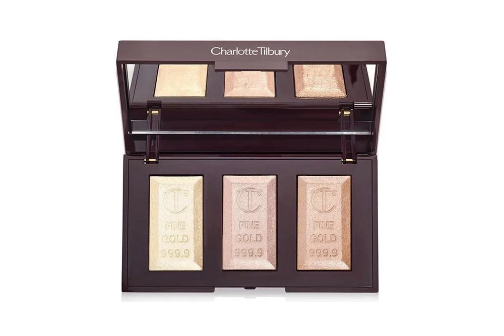 Charlotte Tilbury Bar of Gold Highlighter Trio Powder Palette