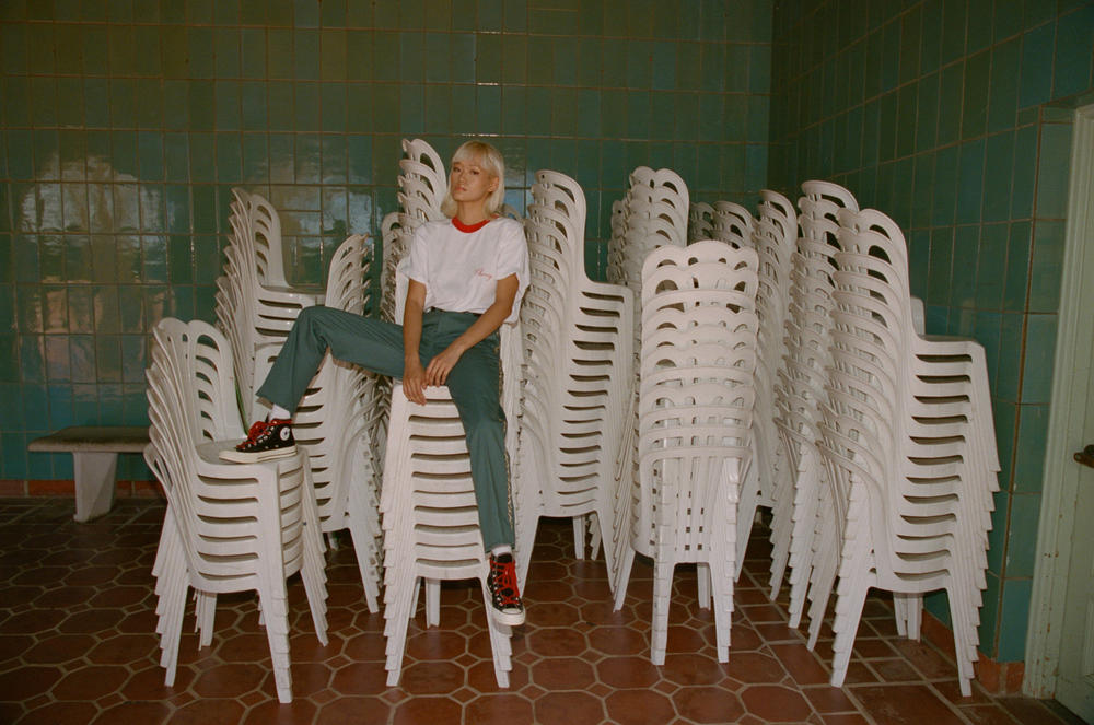 cherry los angeles lookbook getty villa malibu leopard print slacks italian art culture