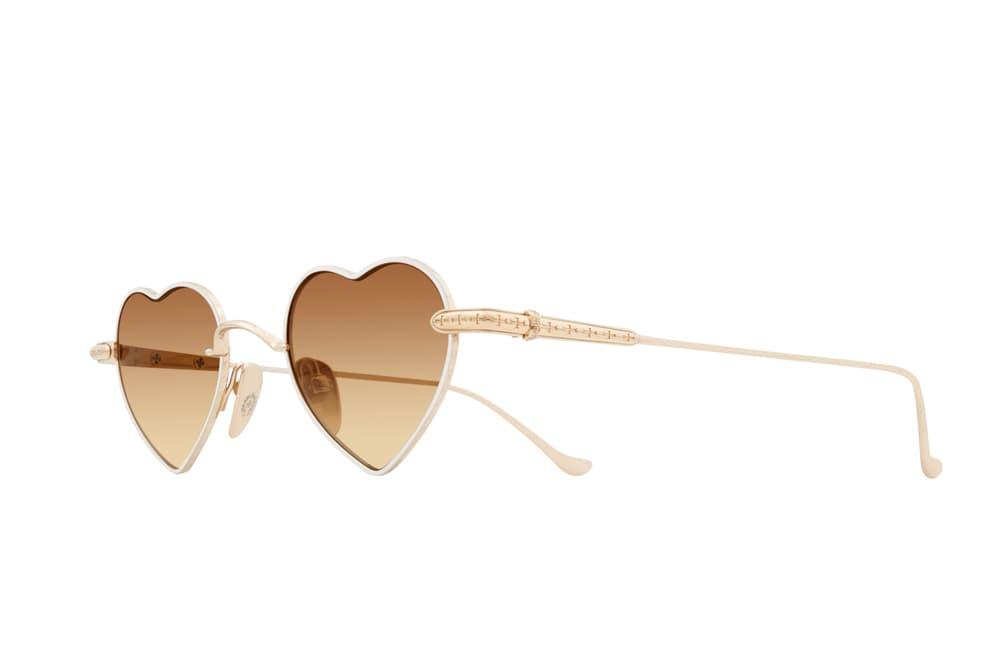 Chrome Hearts Sunglasses Heart Shape Sunnies Shades Accessories Love Yellow Pink Black Brown Frame Design