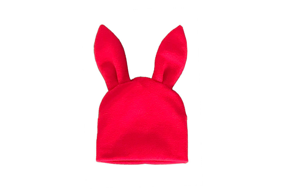 Comme des Garcons Shirt Bunny Ears Woven Beanie Red