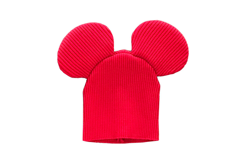 Comme des Garcons Shirt Mouse Ears Knit Beanie Red