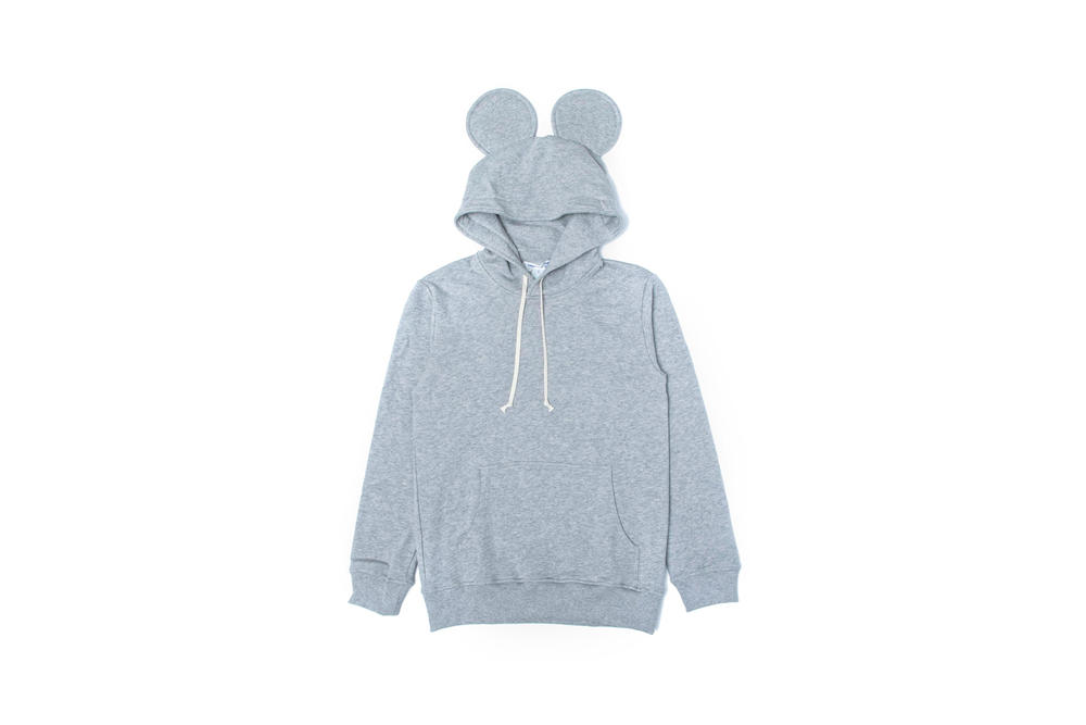 Comme des Garcons Shirt Mouse Ears Hooded Knit Grey